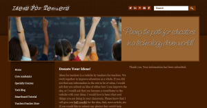 Ideas For Teachers Website Home Page